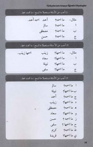 Türkçeleriyle Arapça Öğretici Diyaloglar